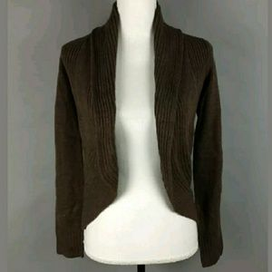 NWT H&M curved hem open front cardigan sweater